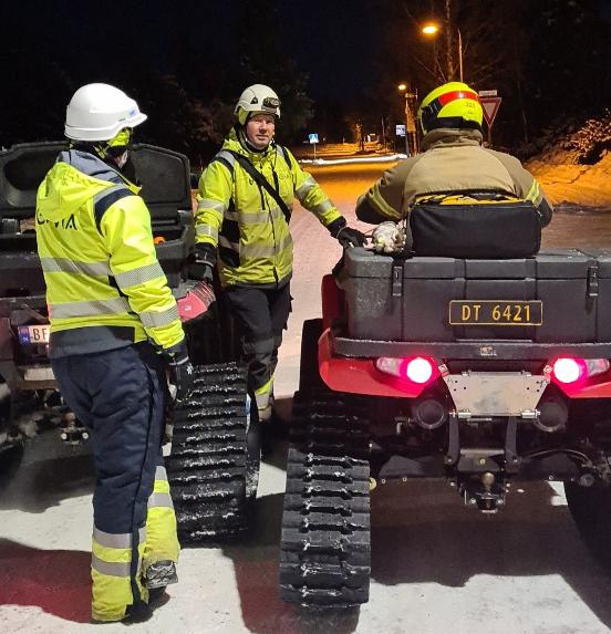 Mannskap og ATV på Gjerdrum