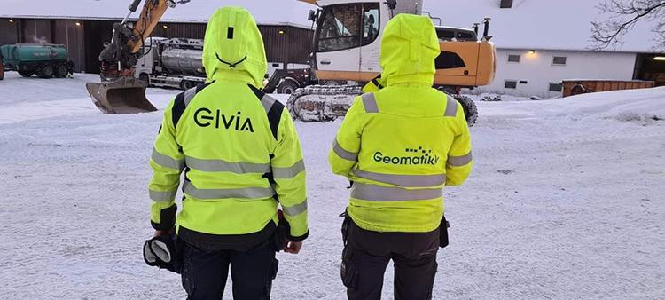 Mannskap fra Elvia og Geomatikk på Gjerdrum